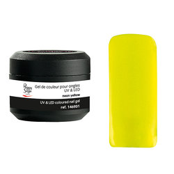 Gel de cor UV&LED Color IT Neon Yellow 5g - Ref. 146931
